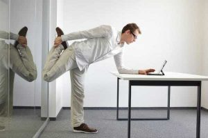 Office stretching at work