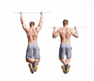 Pull up core exercise