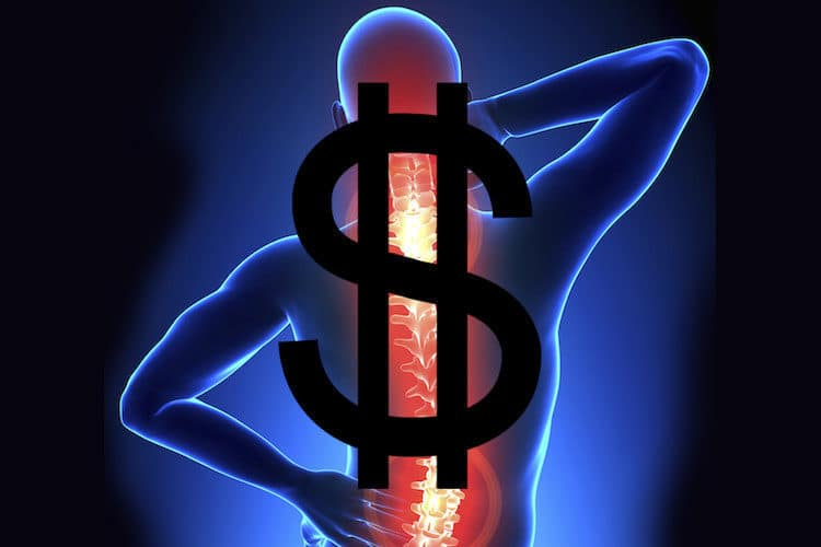 How much does it cost to fix back pain?