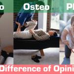 Comparison of Chiro Vs Osteo Vs Physio: A Difference of Opinion