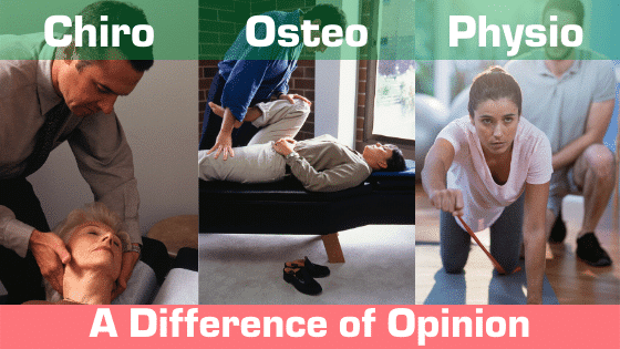 Chiro vs Osteo vs Physio Professions and who to see