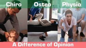 Differences between chiro, physio, osteo and massage therapy