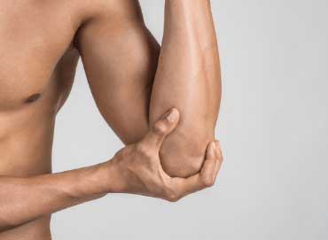 Golfers elbow massage pain